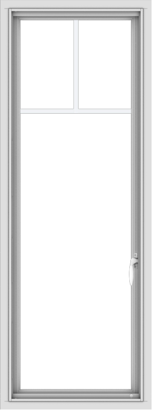 WDMA 20x54 (19.5 x 53.5 inch) uPVC Vinyl White push out Casement Window with Fractional Grilles