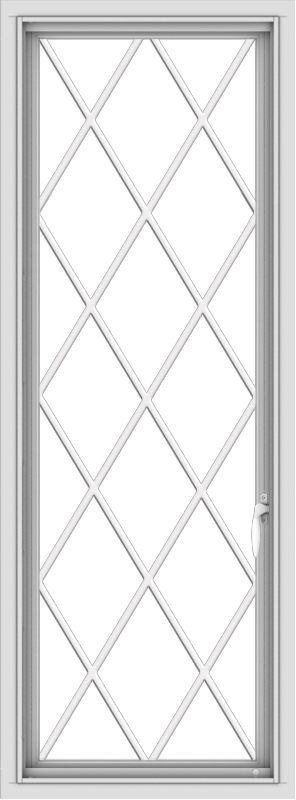 WDMA 20x54 (19.5 x 53.5 inch) uPVC Vinyl White push out Casement Window without Grids with Diamond Grills