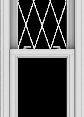 WDMA 20x57 (19.5 x 56.5 inch)  Aluminum Single Double Hung Window with Diamond Grids