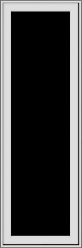 WDMA 20x60 (19.5 x 59.5 inch) White Vinyl uPVC Push out Casement Window without Grids Exterior