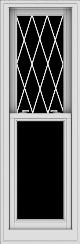 WDMA 20x61 (19.5 x 60.5 inch)  Aluminum Single Double Hung Window with Diamond Grids