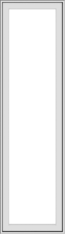 WDMA 20x72 (19.5 x 71.5 inch) White Vinyl uPVC Push out Casement Window without Grids Exterior