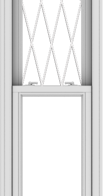 WDMA 20x78 (19.5 x 77.5 inch)  Aluminum Single Double Hung Window with Diamond Grids