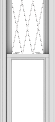 WDMA 20x90 (19.5 x 89.5 inch)  Aluminum Single Double Hung Window with Diamond Grids