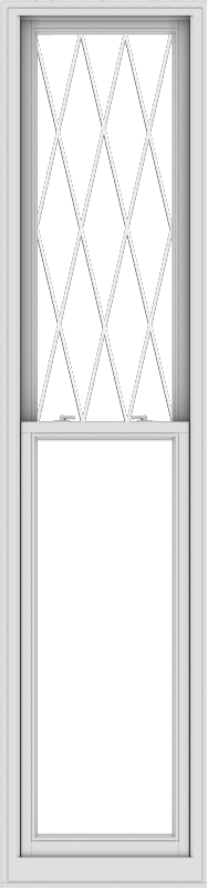 WDMA 24x102 (23.5 x 101.5 inch)  Aluminum Single Double Hung Window with Diamond Grids
