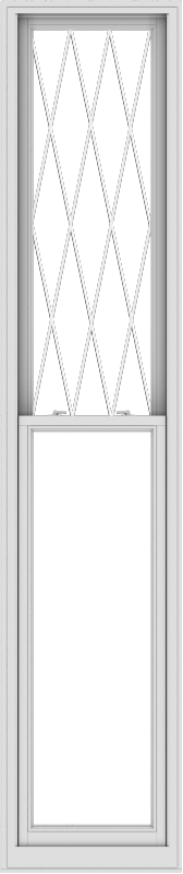 WDMA 24x114 (23.5 x 113.5 inch)  Aluminum Single Double Hung Window with Diamond Grids
