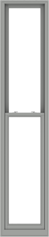 WDMA 24x114 (23.5 x 113.5 inch)  Aluminum Single Double Hung Window without Grids-1