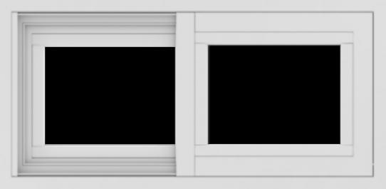 WDMA 24x12 (23.5 x 11.5 inch) Vinyl uPVC White Slide Window without Grids Exterior