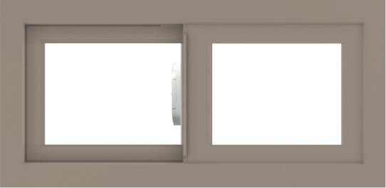 WDMA 24x12 (23.5 x 11.5 inch) Vinyl uPVC Brown Slide Window without Grids Interior