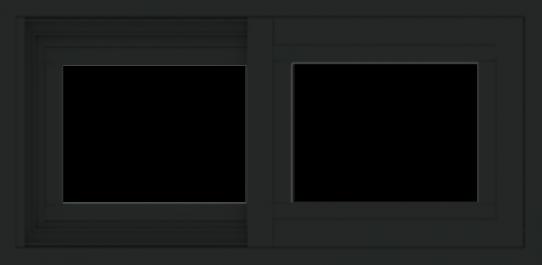 WDMA 24x12 (23.5 x 11.5 inch) Vinyl uPVC Black Slide Window without Grids Exterior