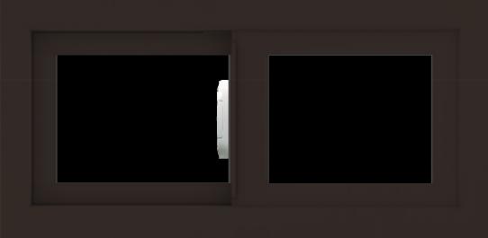WDMA 24x12 (23.5 x 11.5 inch) Vinyl uPVC Dark Brown Slide Window without Grids Interior
