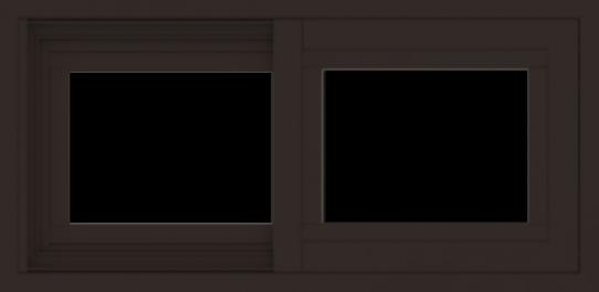WDMA 24x12 (23.5 x 11.5 inch) Vinyl uPVC Dark Brown Slide Window without Grids Exterior