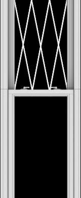 WDMA 24x120 (23.5 x 119.5 inch)  Aluminum Single Double Hung Window with Diamond Grids