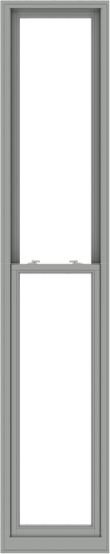 WDMA 24x120 (23.5 x 119.5 inch)  Aluminum Single Double Hung Window without Grids-1