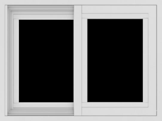 WDMA 24x18 (23.5 x 17.5 inch) Vinyl uPVC White Slide Window without Grids Exterior