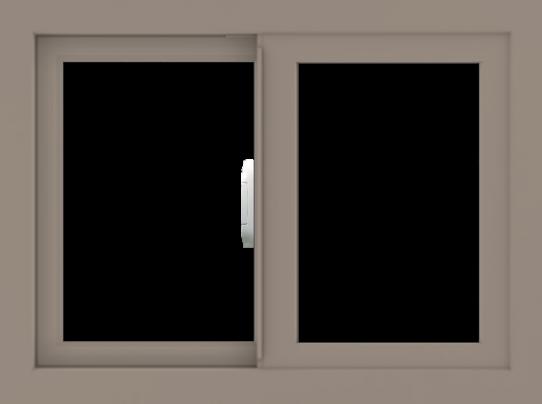WDMA 24x18 (23.5 x 17.5 inch) Vinyl uPVC Brown Slide Window without Grids Interior