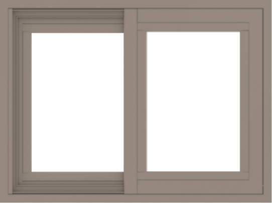 WDMA 24x18 (23.5 x 17.5 inch) Vinyl uPVC Brown Slide Window without Grids Exterior