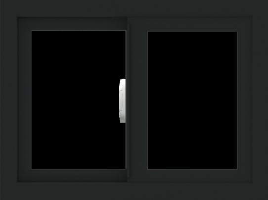 WDMA 24x18 (23.5 x 17.5 inch) Vinyl uPVC Black Slide Window without Grids Interior