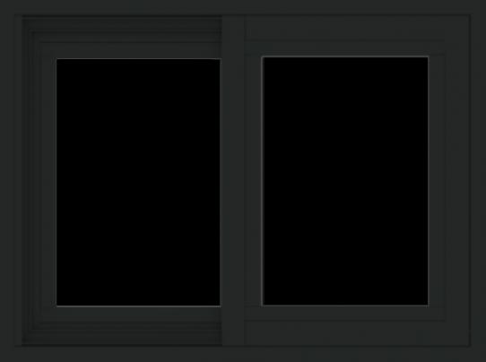WDMA 24x18 (23.5 x 17.5 inch) Vinyl uPVC Black Slide Window without Grids Exterior