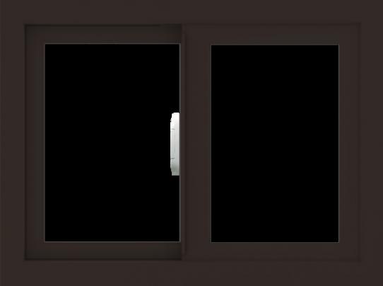 WDMA 24x18 (23.5 x 17.5 inch) Vinyl uPVC Dark Brown Slide Window without Grids Interior