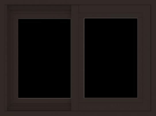 WDMA 24x18 (23.5 x 17.5 inch) Vinyl uPVC Dark Brown Slide Window without Grids Exterior