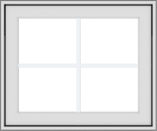WDMA 24x20 (23.5 x 19.5 inch) White Vinyl uPVC Crank out Awning Window with Colonial Grids Exterior