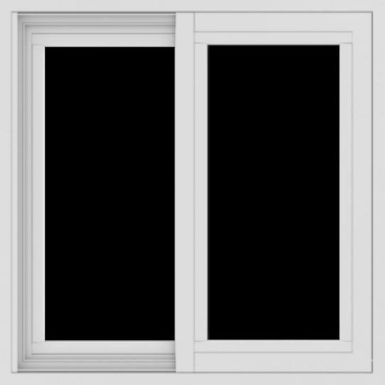 WDMA 24x24 (23.5 x 23.5 inch) Vinyl uPVC White Slide Window without Grids Exterior