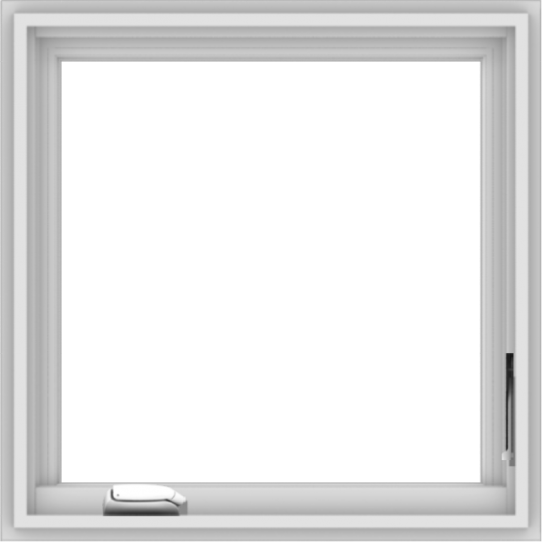 WDMA 24x24 (23.5 x 23.5 inch) White Vinyl uPVC Crank out Casement Window without Grids Interior