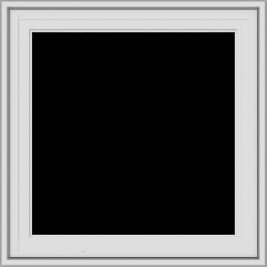 WDMA 24x24 (23.5 x 23.5 inch) White Vinyl uPVC Crank out Casement Window without Grids Exterior