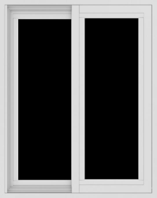 WDMA 24x30 (23.5 x 29.5 inch) Vinyl uPVC White Slide Window without Grids Exterior