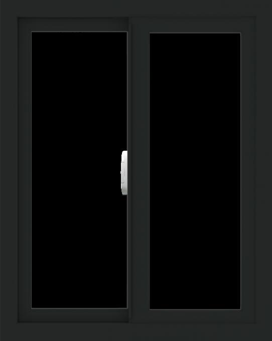 WDMA 24x30 (23.5 x 29.5 inch) Vinyl uPVC Black Slide Window without Grids Interior