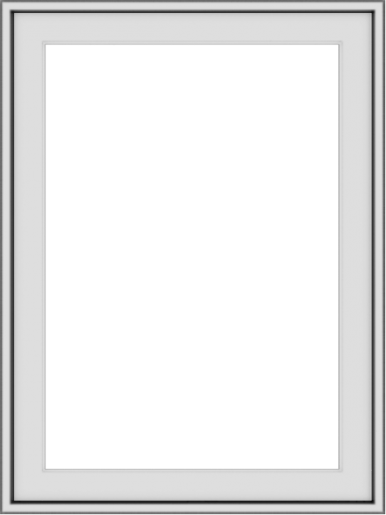 WDMA 24x32 (23.5 x 31.5 inch) Vinyl uPVC White Push out Casement Window without Grids Exterior