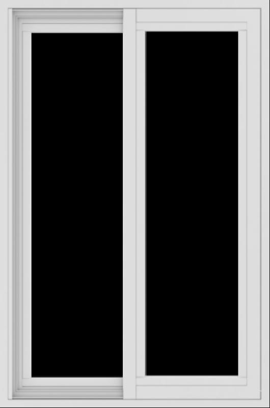 WDMA 24x36 (23.5 x 35.5 inch) Vinyl uPVC White Slide Window without Grids Exterior