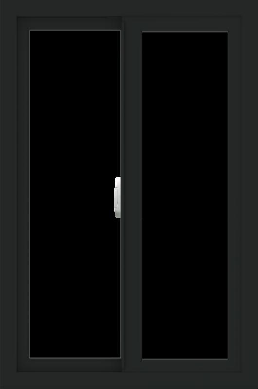 WDMA 24x36 (23.5 x 35.5 inch) Vinyl uPVC Black Slide Window without Grids Interior