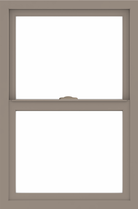 WDMA 24x36 (23.5 x 35.5 inch) Vinyl uPVC Brown Single Hung Double Hung Window without Grids Interior