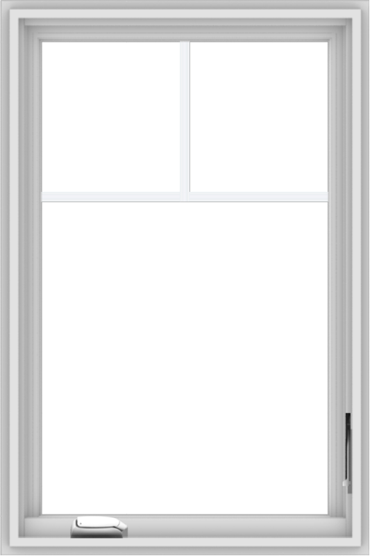 WDMA 24x36 (23.5 x 35.5 inch) White Vinyl uPVC Crank out Casement Window with Fractional Grilles
