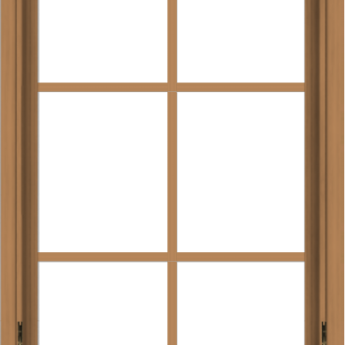 WDMA 24x40 (23.5 x 39.5 inch) Oak Wood Dark Brown Bronze Aluminum Crank out Awning Window with Colonial Grids Interior