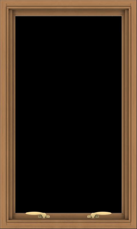 WDMA 24x40 (23.5 x 39.5 inch) Oak Wood Green Aluminum Push out Awning Window without Grids