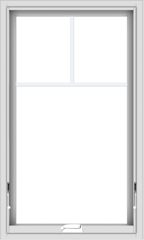 WDMA 24x40 (23.5 x 39.5 inch) White Vinyl uPVC Crank out Awning Window with Fractional Grilles