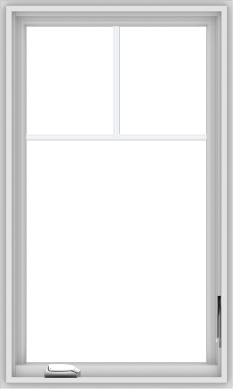WDMA 24x40 (23.5 x 39.5 inch) White Vinyl uPVC Crank out Casement Window with Fractional Grilles
