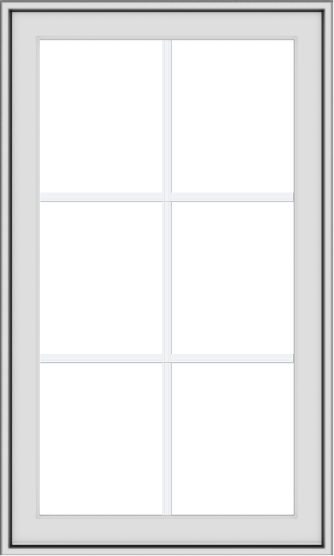WDMA 24x40 (23.5 x 39.5 inch) White uPVC Vinyl Push out Awning Window with Colonial Grids Exterior