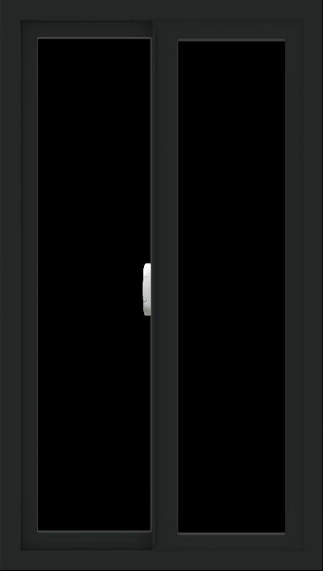 WDMA 24x42 (23.5 x 41.5 inch) Vinyl uPVC Black Slide Window without Grids Interior