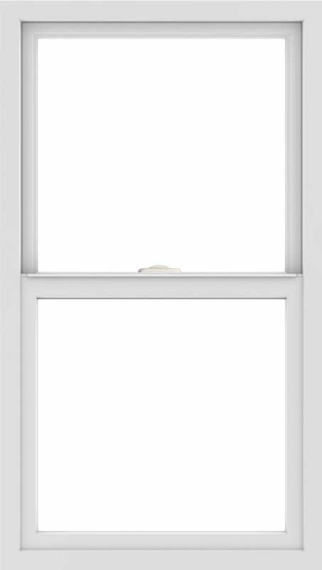 WDMA 24x42 (23.5 x 41.5 inch) Vinyl uPVC White Single Hung Double Hung Window without Grids Interior