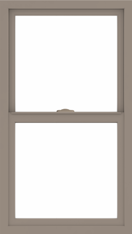 WDMA 24x42 (23.5 x 41.5 inch) Vinyl uPVC Brown Single Hung Double Hung Window without Grids Interior