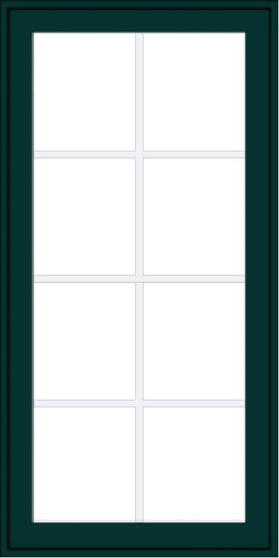 WDMA 24x48 (23.5 x 47.5 inch) Oak Wood Green Aluminum Push out Awning Window with Colonial Grids Exterior