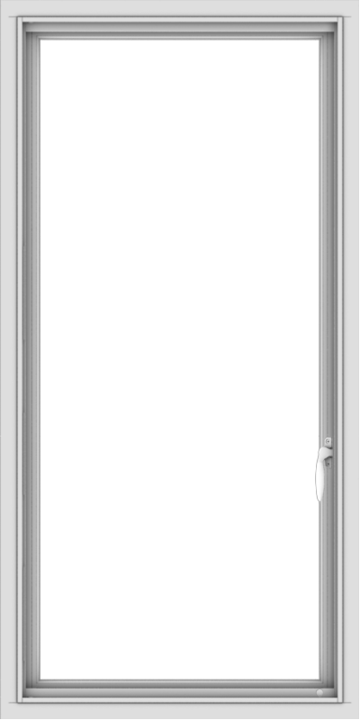WDMA 24x48 (23.5 x 47.5 inch) uPVC Vinyl White push out Casement Window without Grids Interior