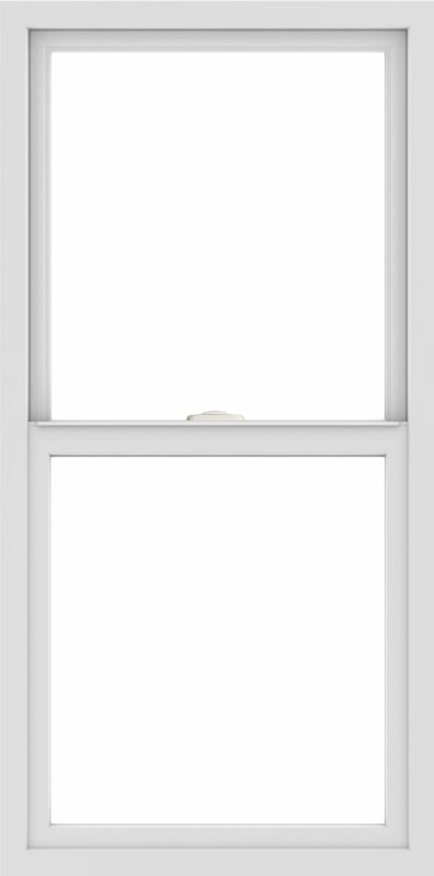 WDMA 24x48 (23.5 x 47.5 inch) Vinyl uPVC White Single Hung Double Hung Window without Grids Interior