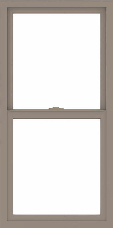 WDMA 24x48 (23.5 x 47.5 inch) Vinyl uPVC Brown Single Hung Double Hung Window without Grids Interior