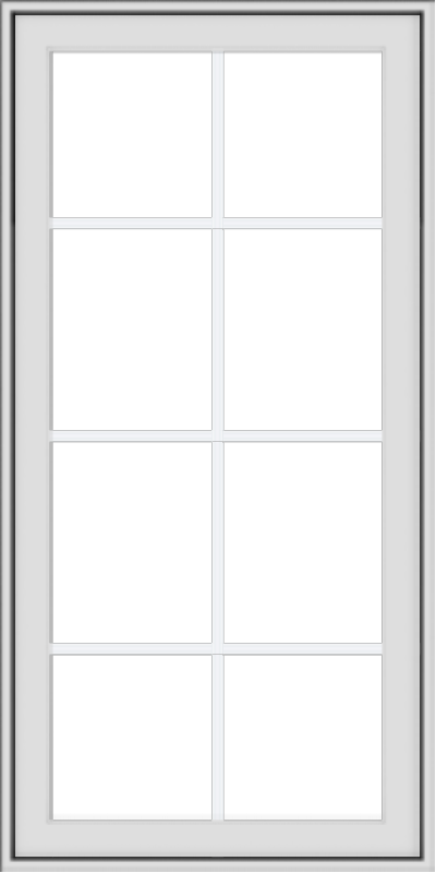WDMA 24x48 (23.5 x 47.5 inch) White Vinyl uPVC Crank out Awning Window with Colonial Grids Exterior