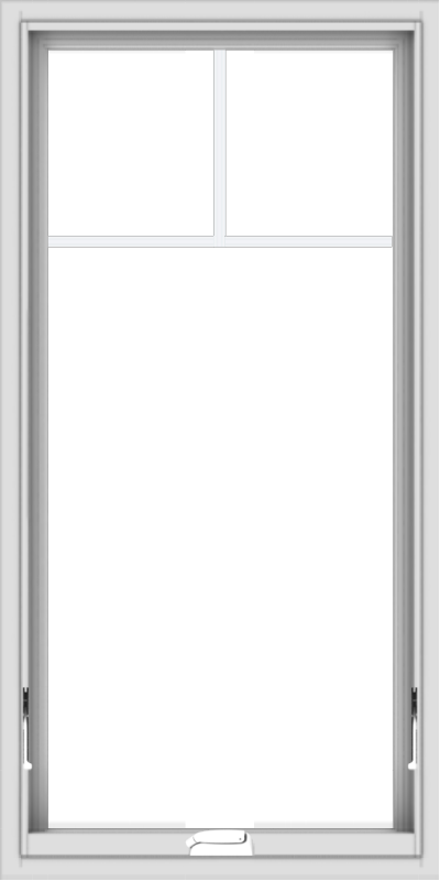 WDMA 24x48 (23.5 x 47.5 inch) White Vinyl uPVC Crank out Awning Window with Fractional Grilles